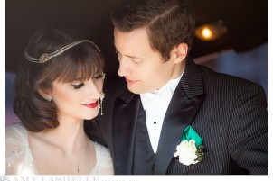 Emerald & Gold Great Gatsby Wedding in Salt Lake City